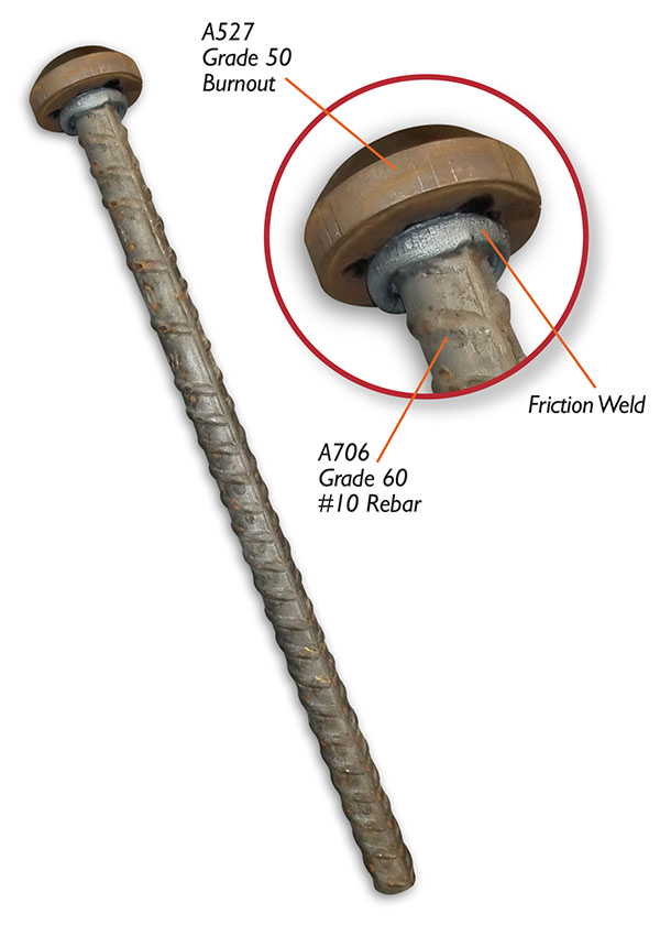 Rebar Anchor Friction Welding