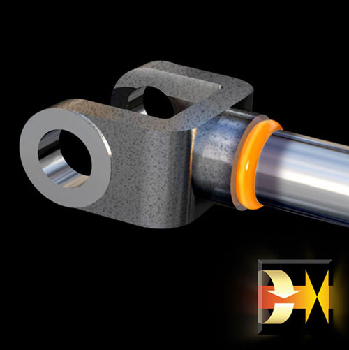 Welding Hydraulic Cylinder Rod Ends Image