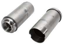 Silencer tube to machined end cap friction welded