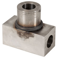 Tee fitting friction welded